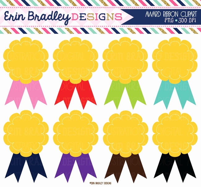 Award Certificate Clip Art Best Of Award Clipart Graphics Ribbon Badges Digital Clip Art