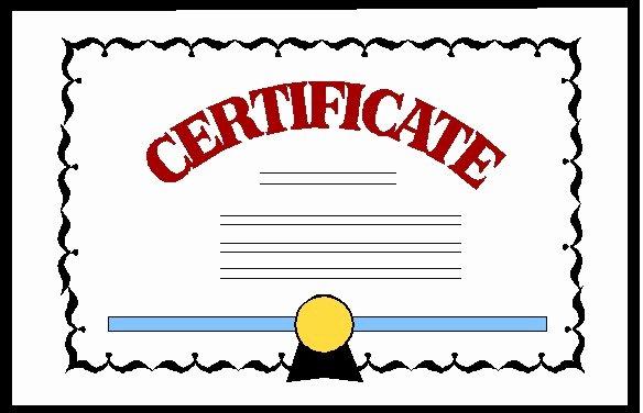 certificate clip art free