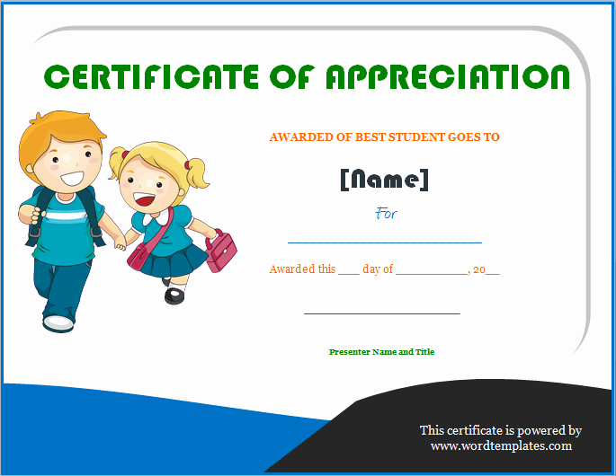 Award Certificate Template Google Docs New Certificate Appreciation for Students – Planner