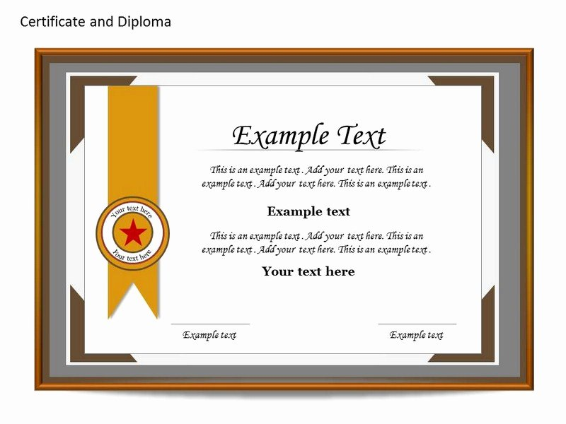 Award Certificate Template Powerpoint Awesome Certificate Template Ppt