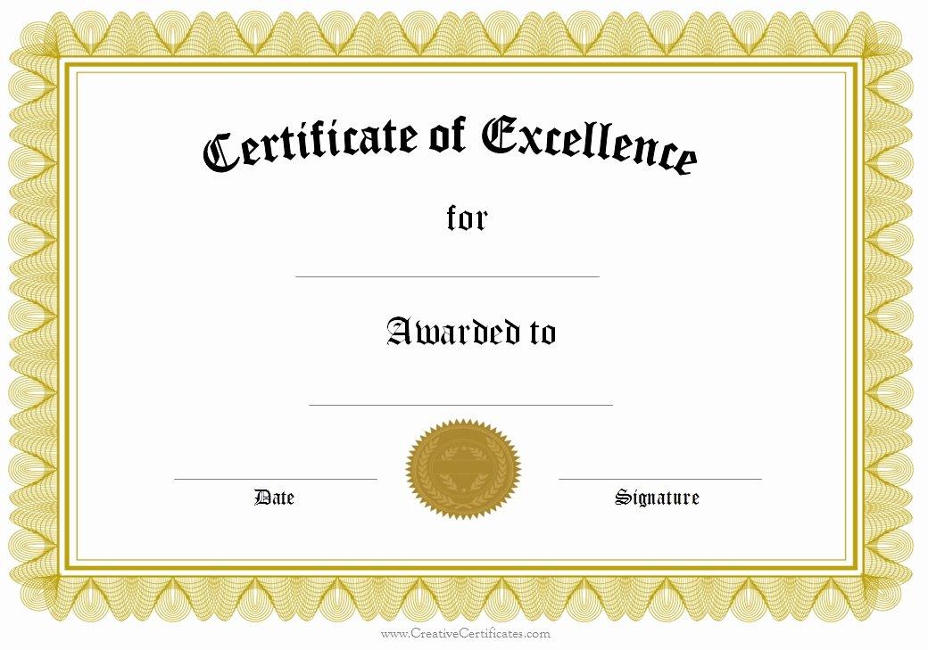 Award Certificate Template Powerpoint Beautiful Award Template