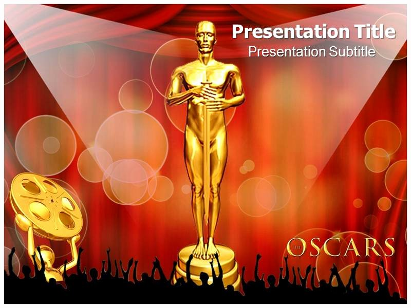 Award Certificate Template Powerpoint Elegant Oscar Awards Powerpoint Template Powerpoint Background