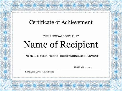Award Certificate Template Powerpoint Unique Certificates Fice