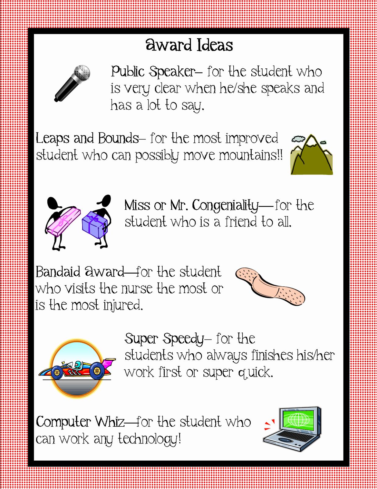 Award Ideas for Preschool Graduation Best Of Preschool Awards