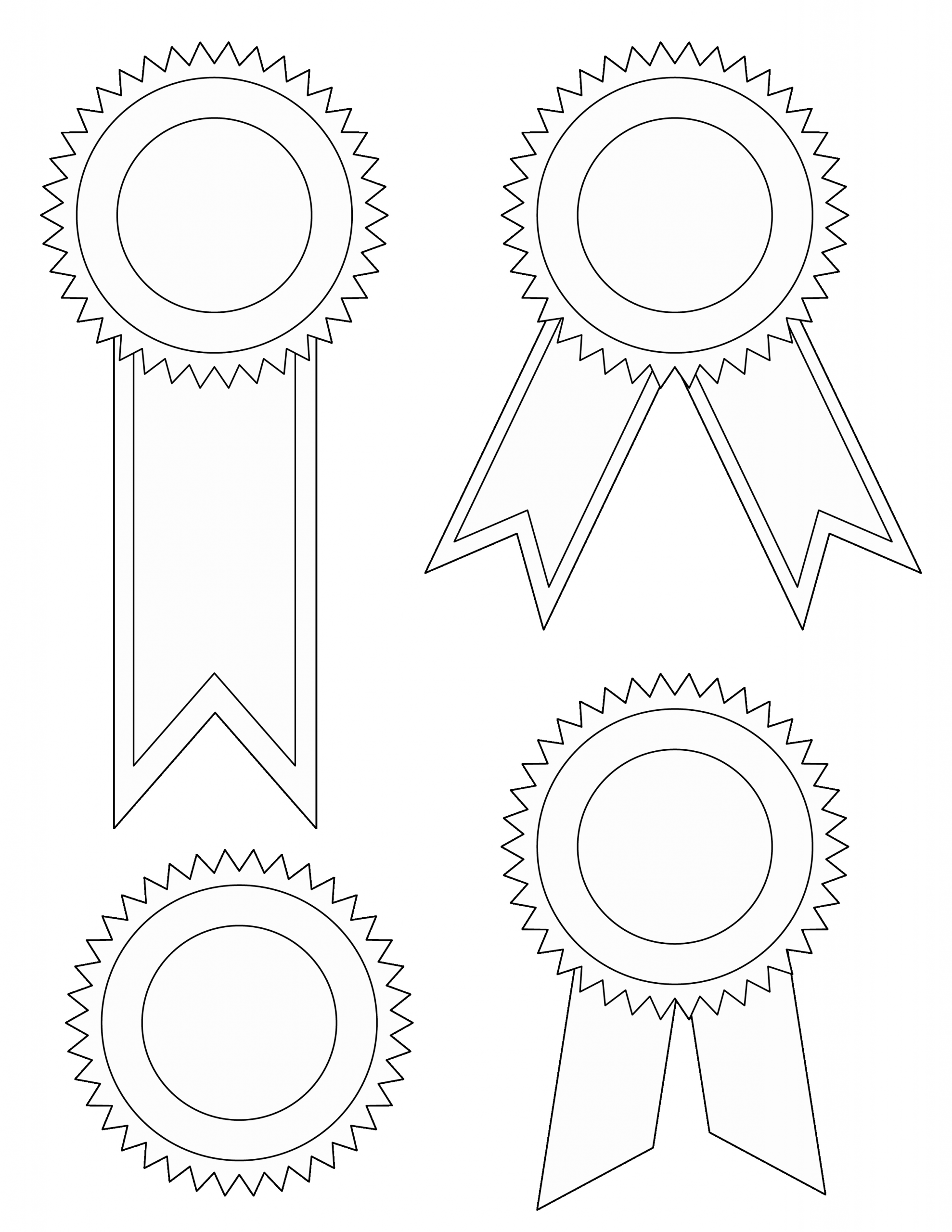 Award Ribbon Template Printable Awesome Printable Award Ribbons