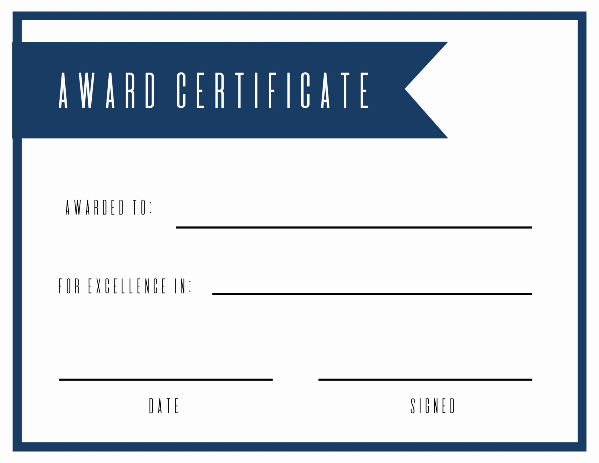 Award Ribbon Template Printable Elegant Free Printable Award Certificate Template Paper Trail Design