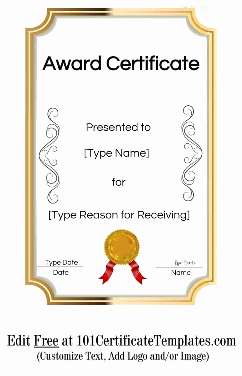 Award Ribbon Template Printable Fresh Free Printable Certificate Templates