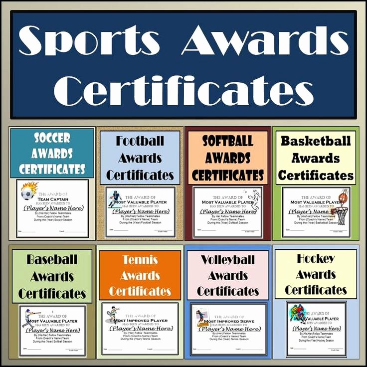 Award Titles for Sports Best Of these Sports Awards Certificates are Set Up In Microsoft