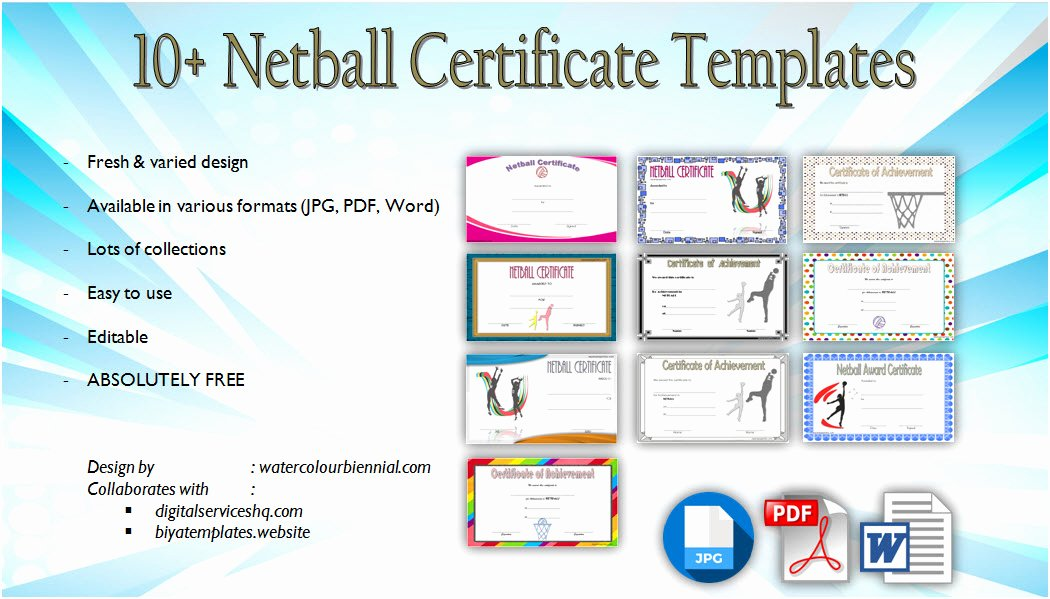 Award Titles for Sports Inspirational Netball Certificate Template [10 Best Designs Free Download]