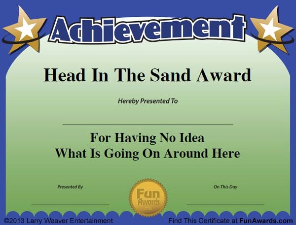 Award Titles for Sports Unique Funny Certificates Work Team Pinterest