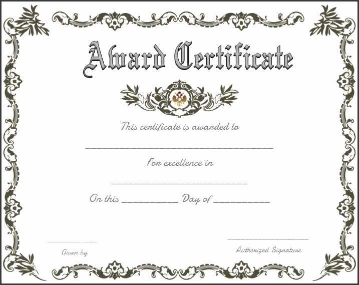 Awards Certificate Template Google Docs Elegant 10 Certificate Appreciation Template Easy to Edit