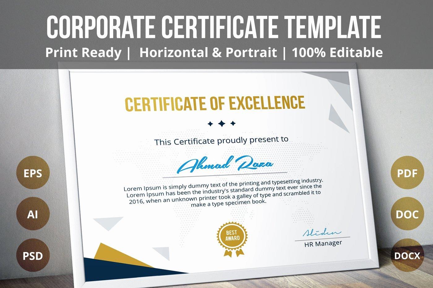 Awards Certificate Template Google Docs Unique Multipurpose Certificate Template Stationery Templates