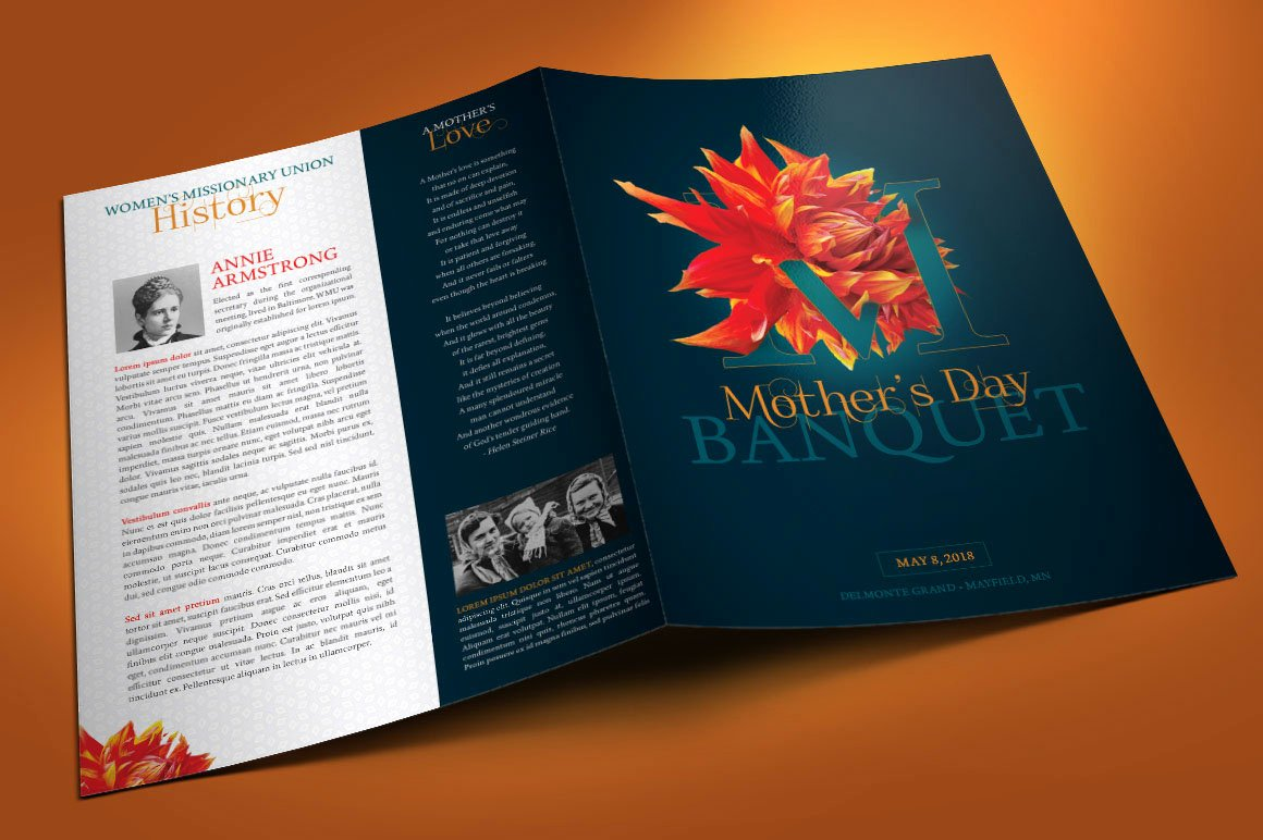 Awards Day Program Template Inspirational Mothers Day Banquet Program Template On Behance