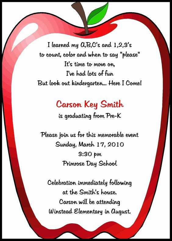 Awards Day Program Template Lovely Preschool Invitations Templates