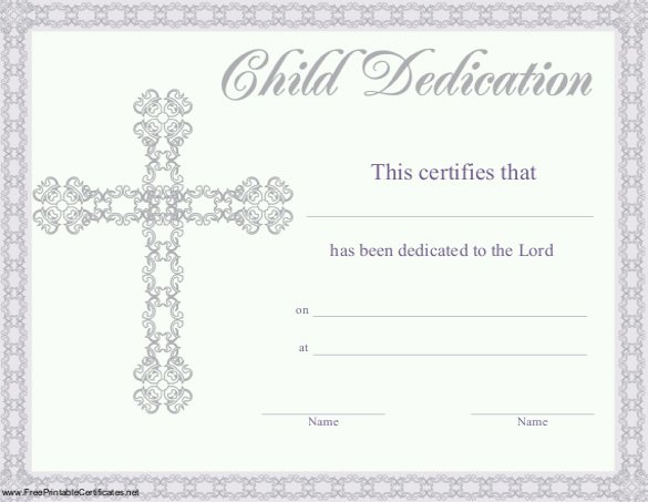 Baby Blessing Certificate Template Best Of Baby Dedication Certificate Template 21 Free Word Pdf