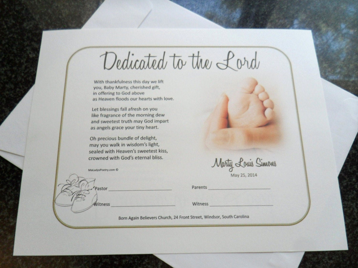 Baby Blessing Certificate Template Elegant Boy Girl Dedication Baptism Certificate with Title Lines to