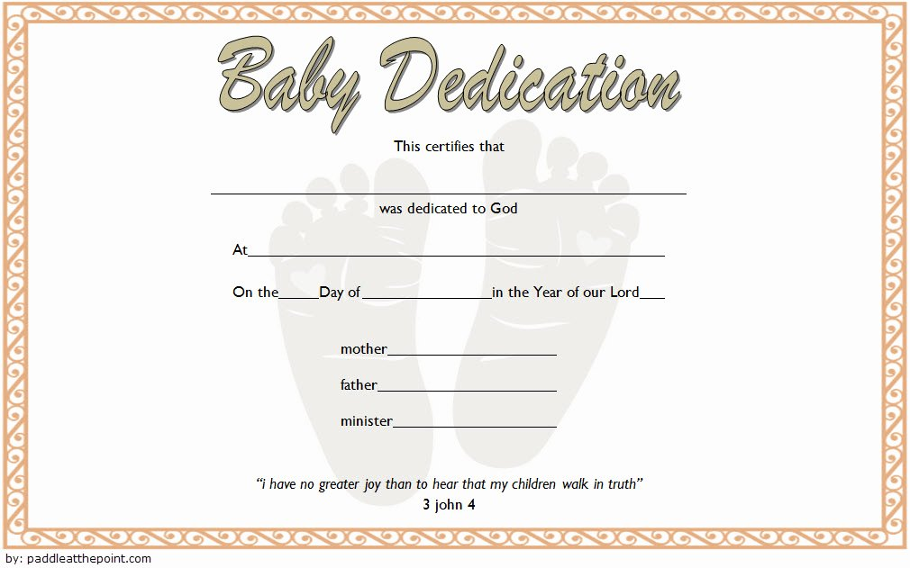 Baby Blessing Certificate Template Luxury 7 Free Printable Baby Dedication Certificate Templates Free