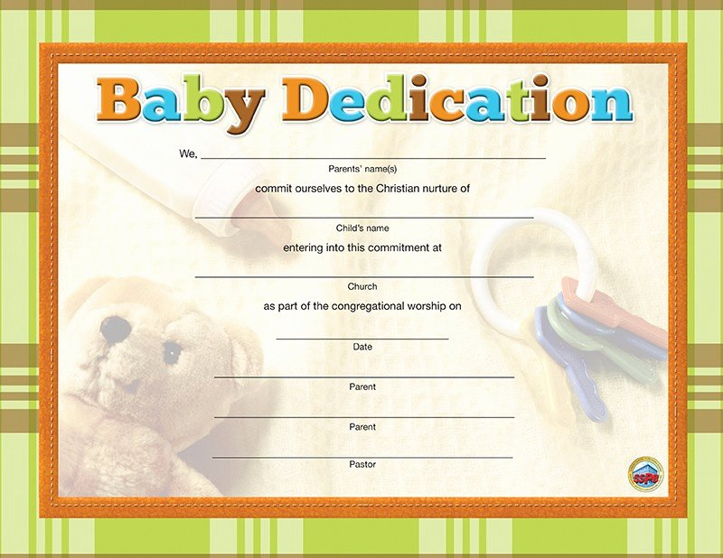 Baby Blessing Certificate Template Unique Foundations for Ministry An Introduction to Christian