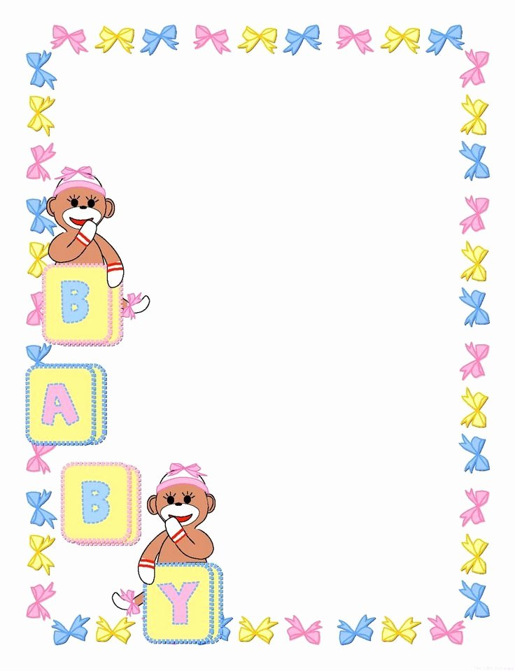 Baby Border for Word Document Beautiful Baby Border Clipart Free Clipground