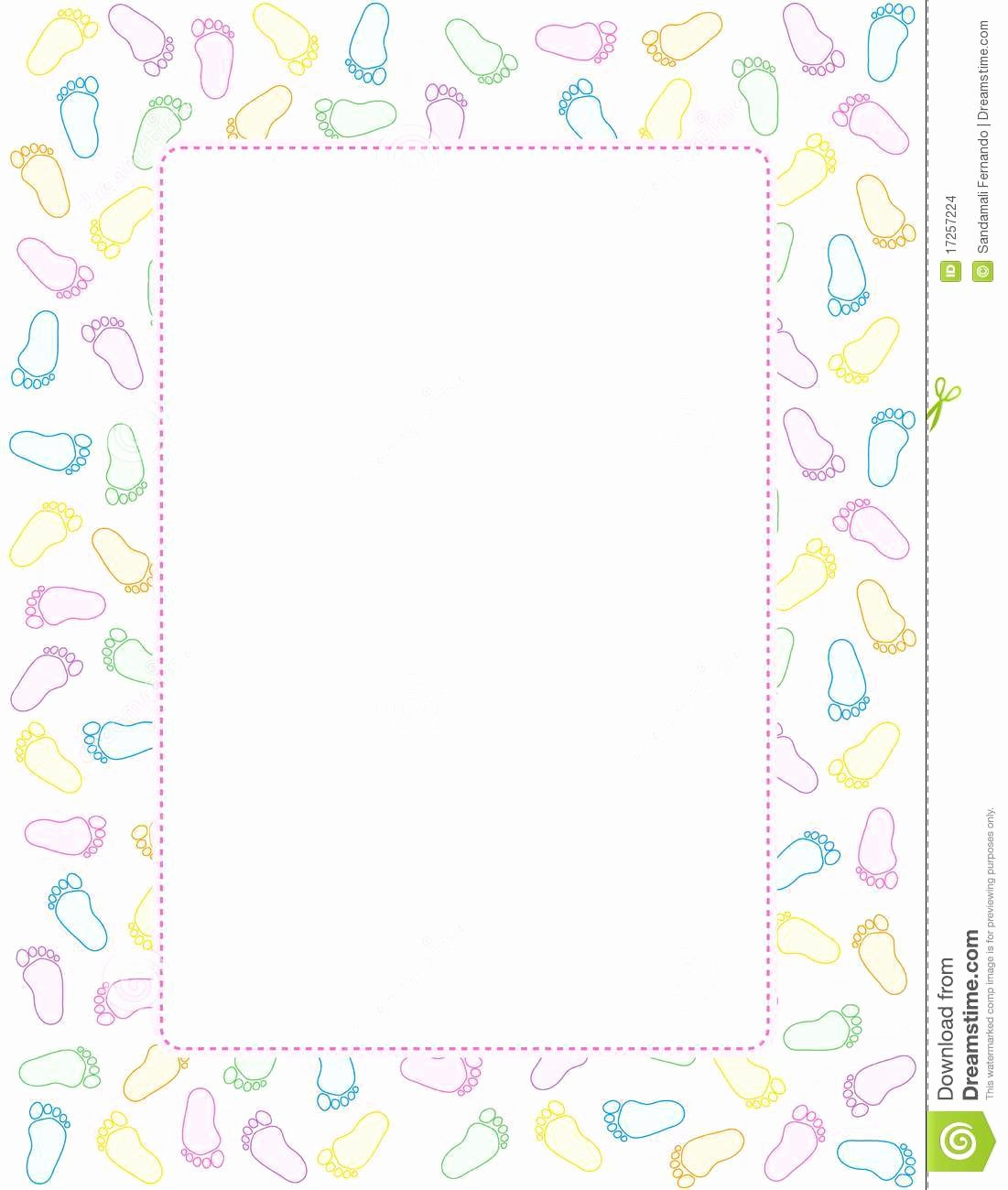 Baby Border for Word Document Luxury Baby Footprints Border Clipart Png and Cliparts for Free