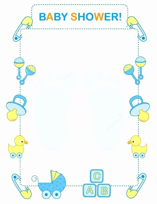 Baby Border for Word Document Luxury Boy Baby Shower Invitations Templates Party Xyz