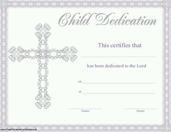 Baby Christening Certificate Template Elegant Baby Dedication Certificate