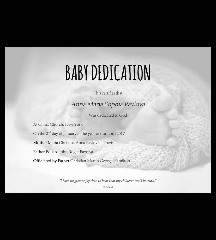 Baby Christening Certificate Template Elegant Pexels Free Printable Black and White for Babies