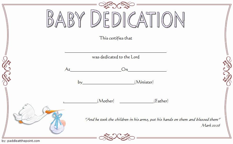 Baby Dedication Certificate Borders Best Of 7 Free Printable Baby Dedication Certificate Templates Free