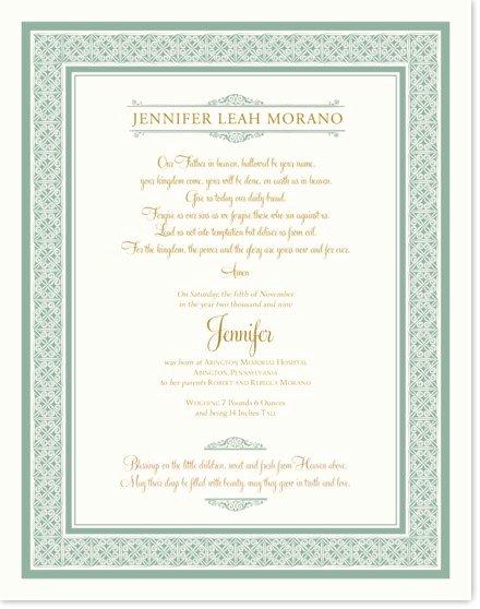 celtic tile birth christening certificate wedding certificate