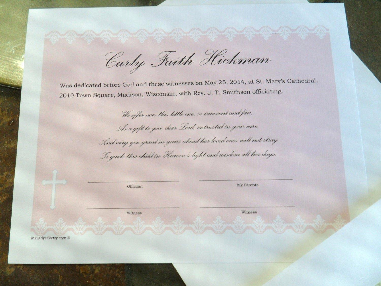 Baby Dedication Certificate Borders Elegant Dedication or Baptism Certificate Features Fancy Border In A