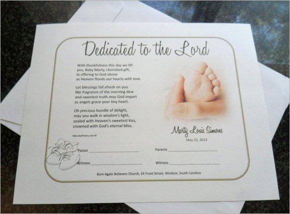 Baby Dedication Certificate Template Best Of Baby Dedication Certificate 7 Download Free Documents