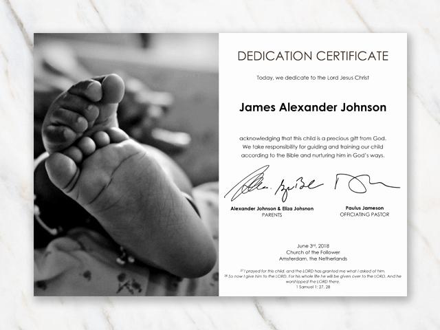 Baby Dedication Certificate Template Best Of Baby Dedication Certificate Template for Word [free Printable]