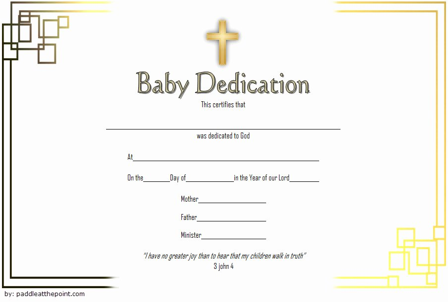 Baby Dedication Certificate Template Free New 7 Free Printable Baby Dedication Certificate Templates Free