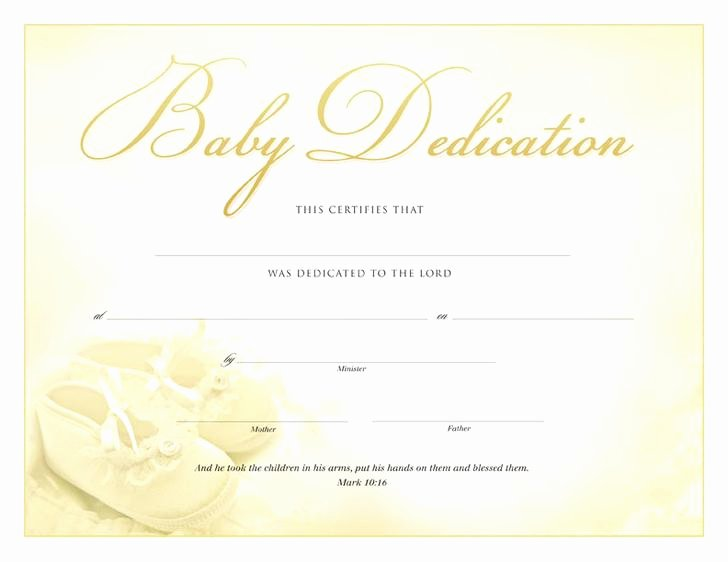 Baby Dedication Certificate Template Free New Baby Dedication Certificate Template