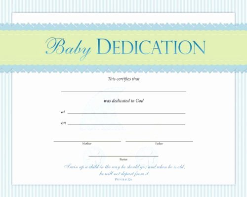 Baby Dedication Certificate Template Lovely Baby Dedication Certificate Template