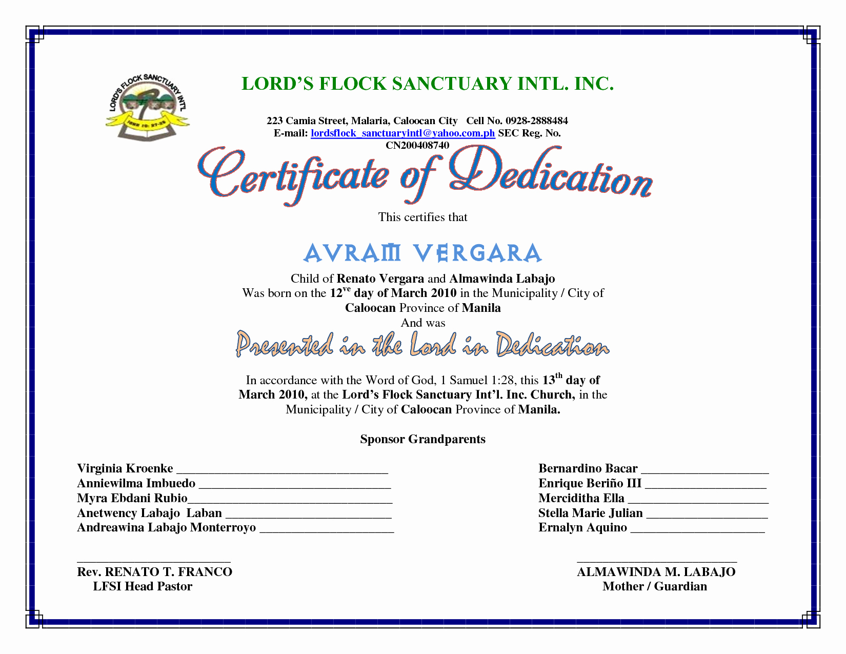 Baby Dedication Certificate Template Lovely Best S Of Baby Certificate Template Free Printable