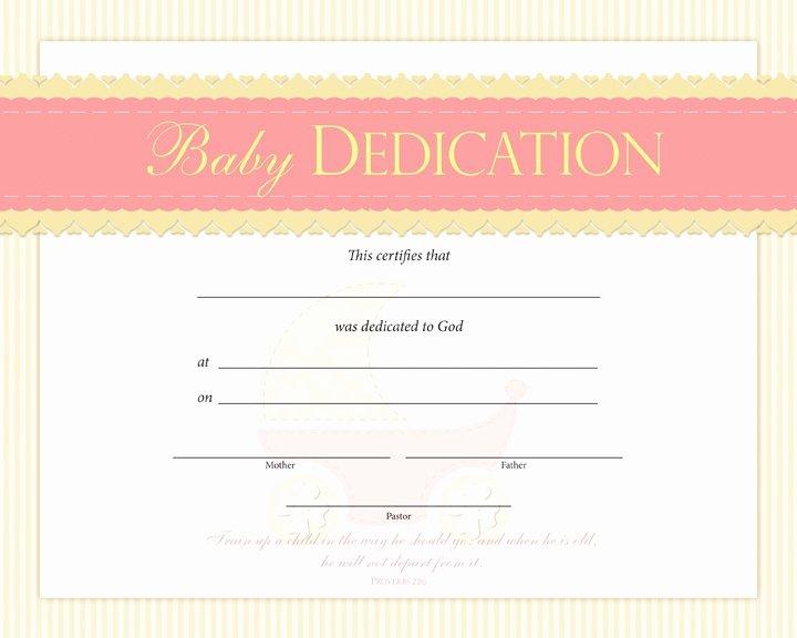 Baby Dedication Certificate Template New Baby Dedication Certificate