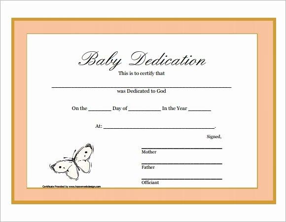 Baby Dedication Certificate Template Printable Beautiful Baby Dedication Certificate Printable