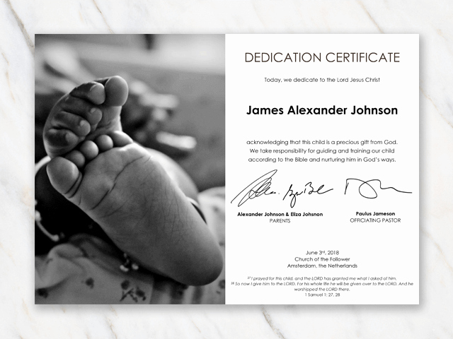 Baby Dedication Certificate Template Printable Inspirational Baby Dedication Certificate Template for Word [free Printable]