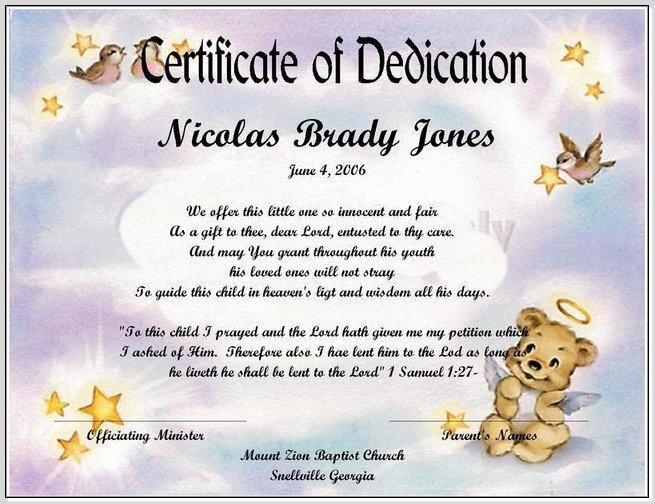 Baby Dedication Certificate Template Word Beautiful Best S Of Baby Certificate Template Free Printable
