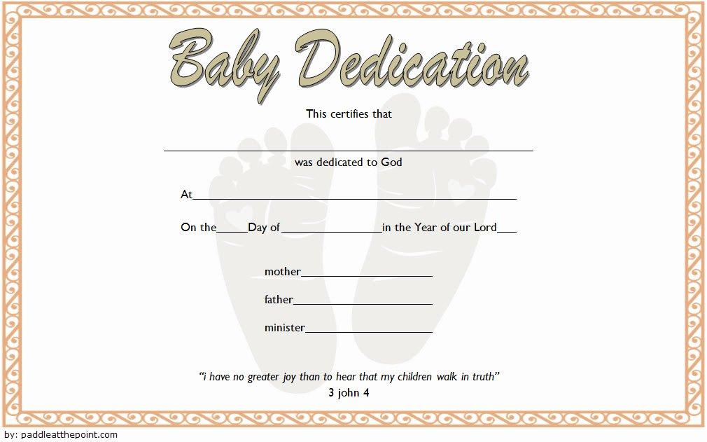 Baby Dedication Certificate Template Word Elegant 7 Free Printable Baby Dedication Certificate Templates Free