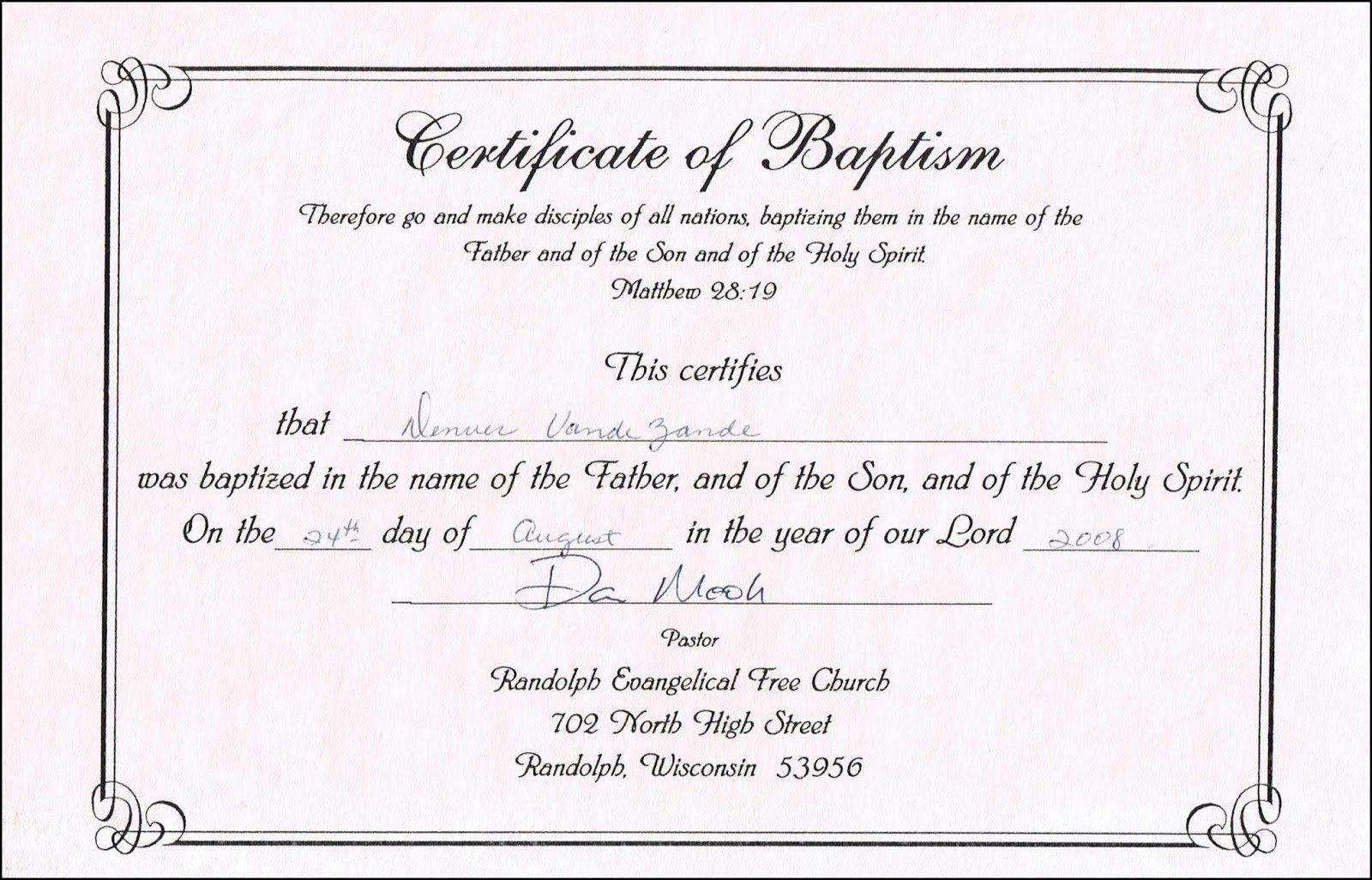 Baby Dedication Certificate Template Word Fresh Sample Baptism Certificate Templates