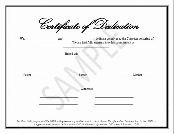 Baby Dedication Certificate Template Word Unique Printable Child Dedication Certificate Templates the