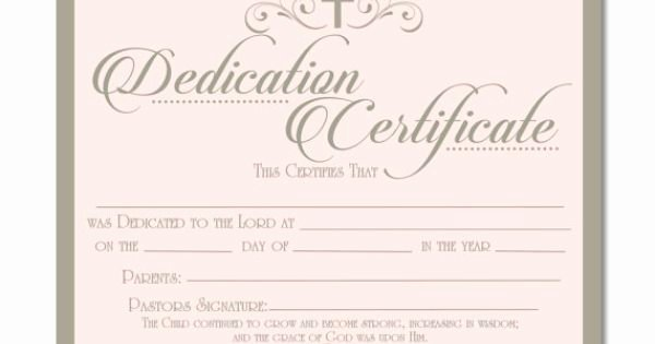 Baby Dedication Certificate Templates Free Elegant Printable Baby Dedication Certificate Digital by