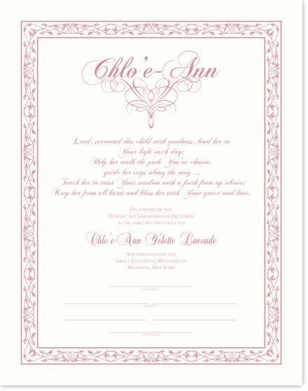 Baby Dedication Certificate Wording Awesome Baby Christening Certificate