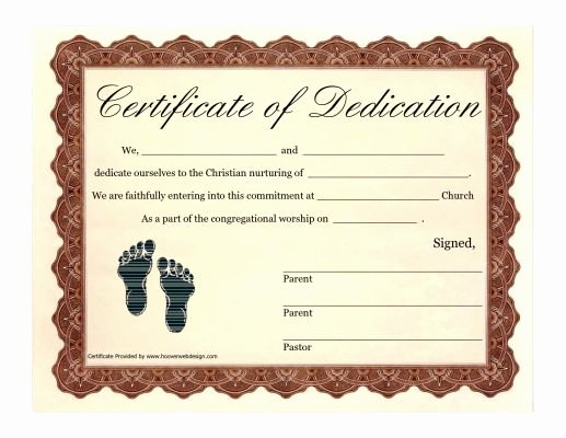 Baby Dedication Certificate Wording Best Of Printable Baby Dedication Certificate