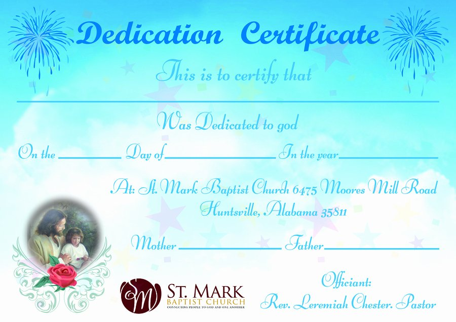Baby Dedication Certificate Wording Elegant Baby Dedication Certificate