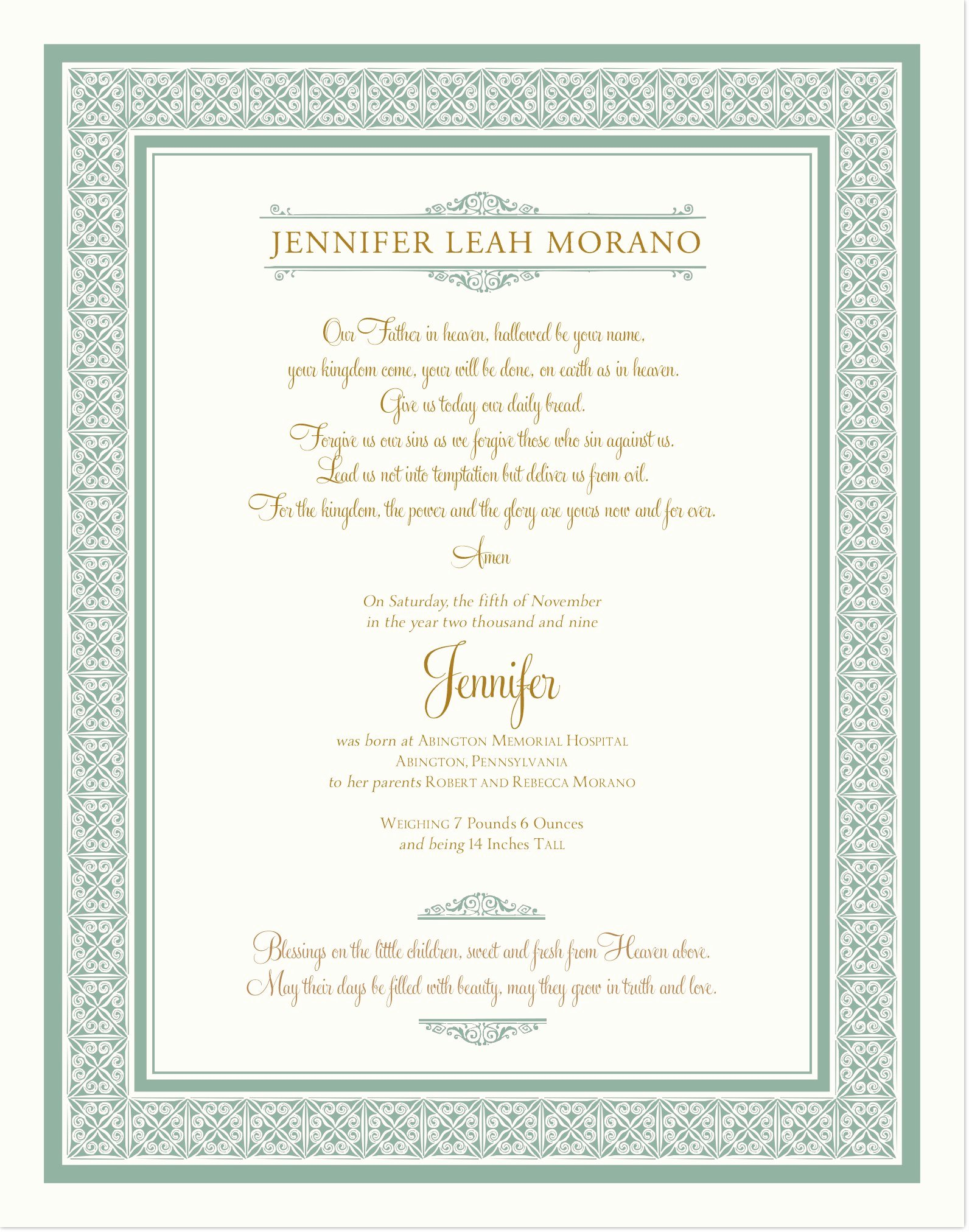 Baby Dedication Certificate Wording Fresh Godparents Certificates Templates