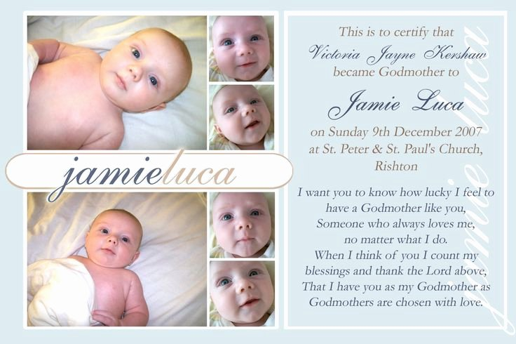 Baby Dedication Certificate Wording Lovely 7x5 Godparent Certificate Christening Keepsake Poem