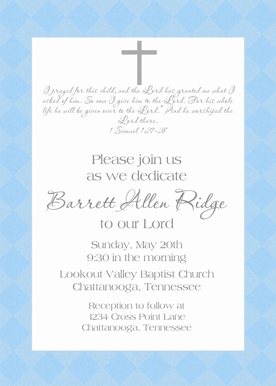 Baby Dedication Certificate Wording Unique Baby Dedication Invitation Baby Pinterest